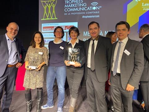 L'équipe de Fifty Bees et Blue Bees reçoit plusieurs trophées aux MarCom
